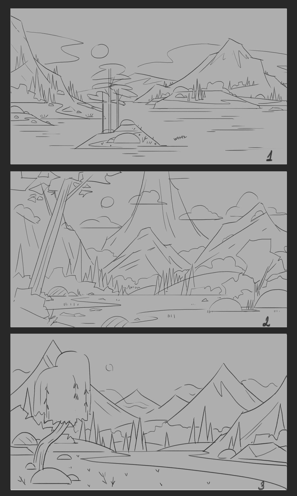 Background landscape on Behance