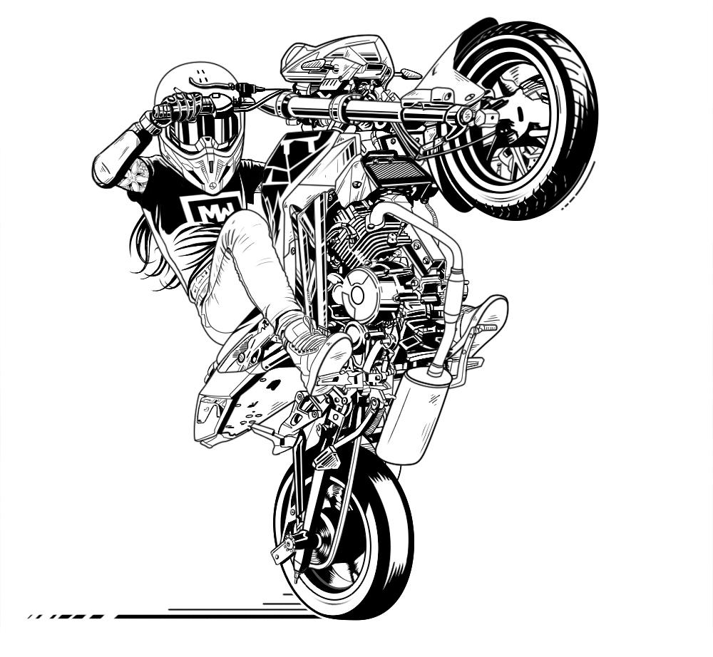 «Stunt girl» illustration on Behance