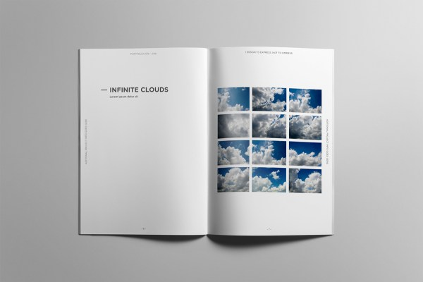 Minimalist Portfolio Book Behance