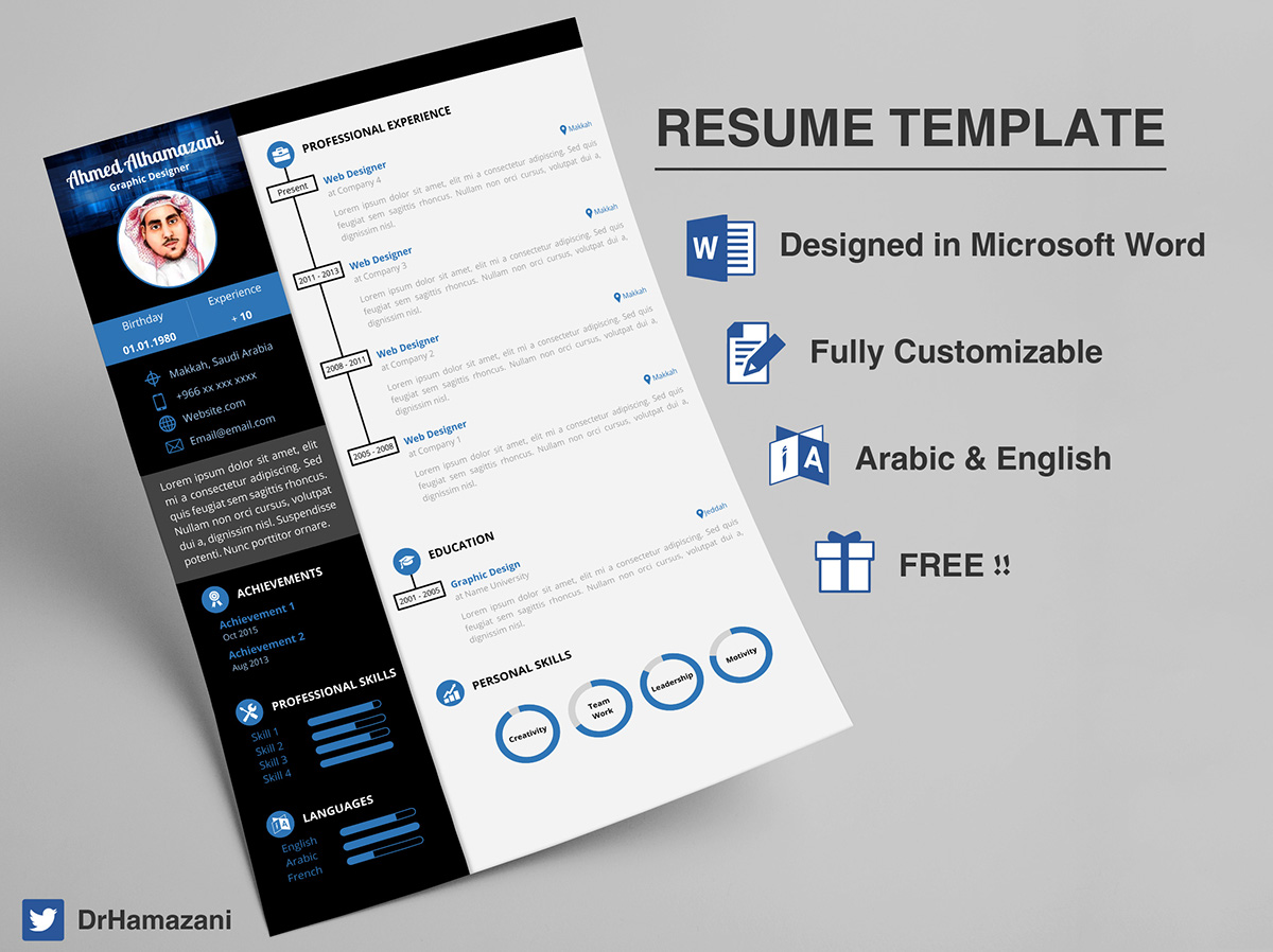 Free Resume Word Template Download The Unlimited Word Resume Template Free On Behance