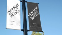 Smart Lamp Post Banner Mockup on Behance