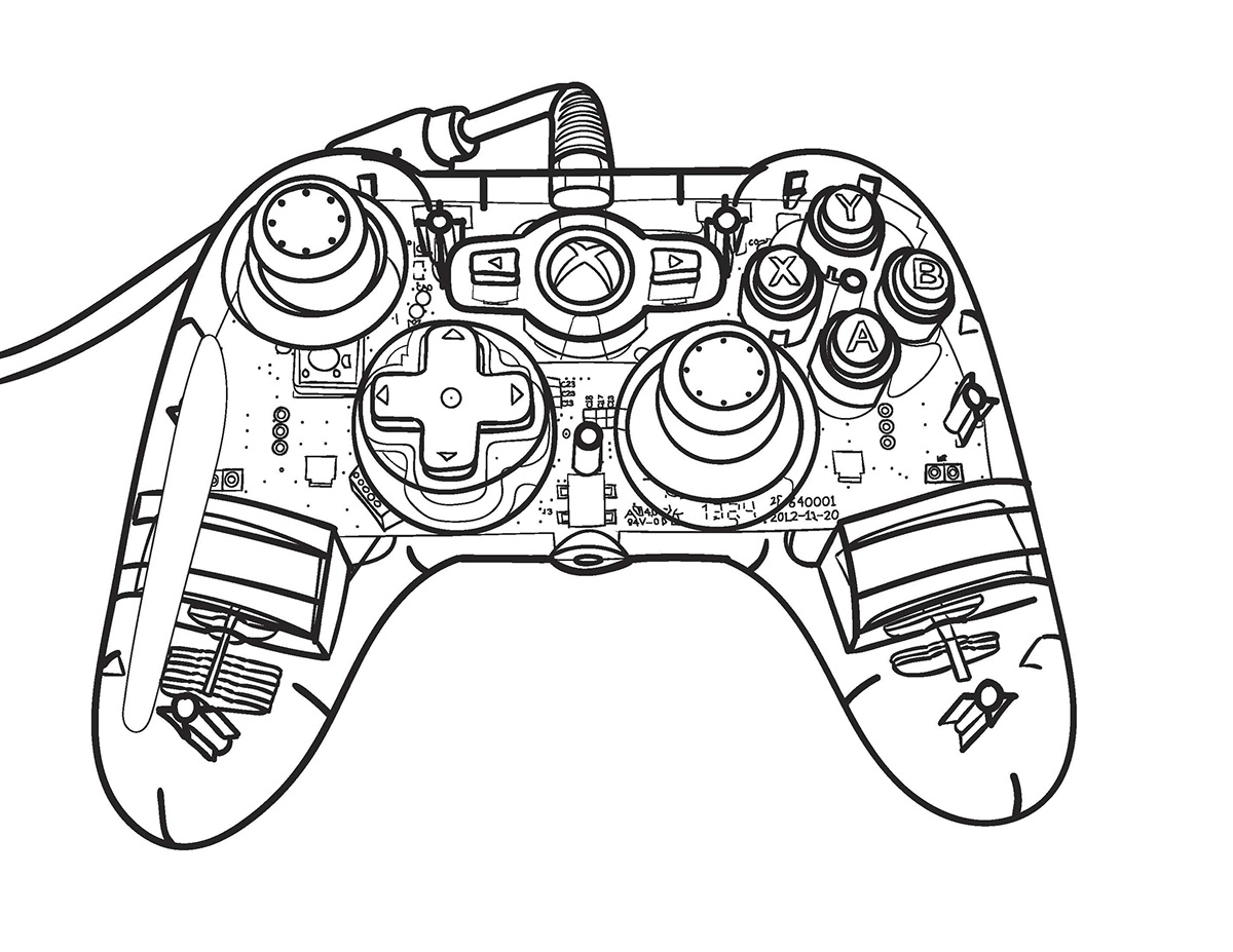 Xbox Controller Blueprint On Behance