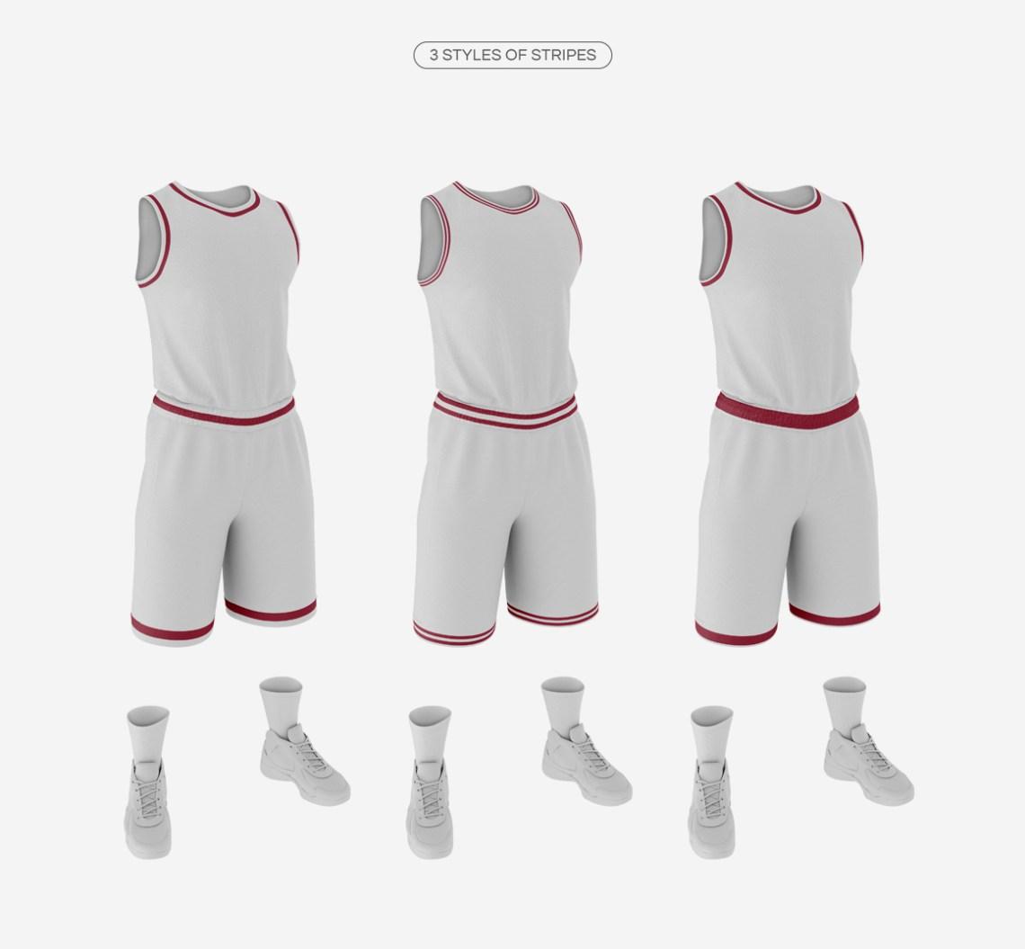 Download Men's Full Basketball Kit Crew-Neck Jersey Mock up on Behance