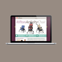 Rifton Activity Chair Green Parsons Product Launch Landing Page 3910 On
