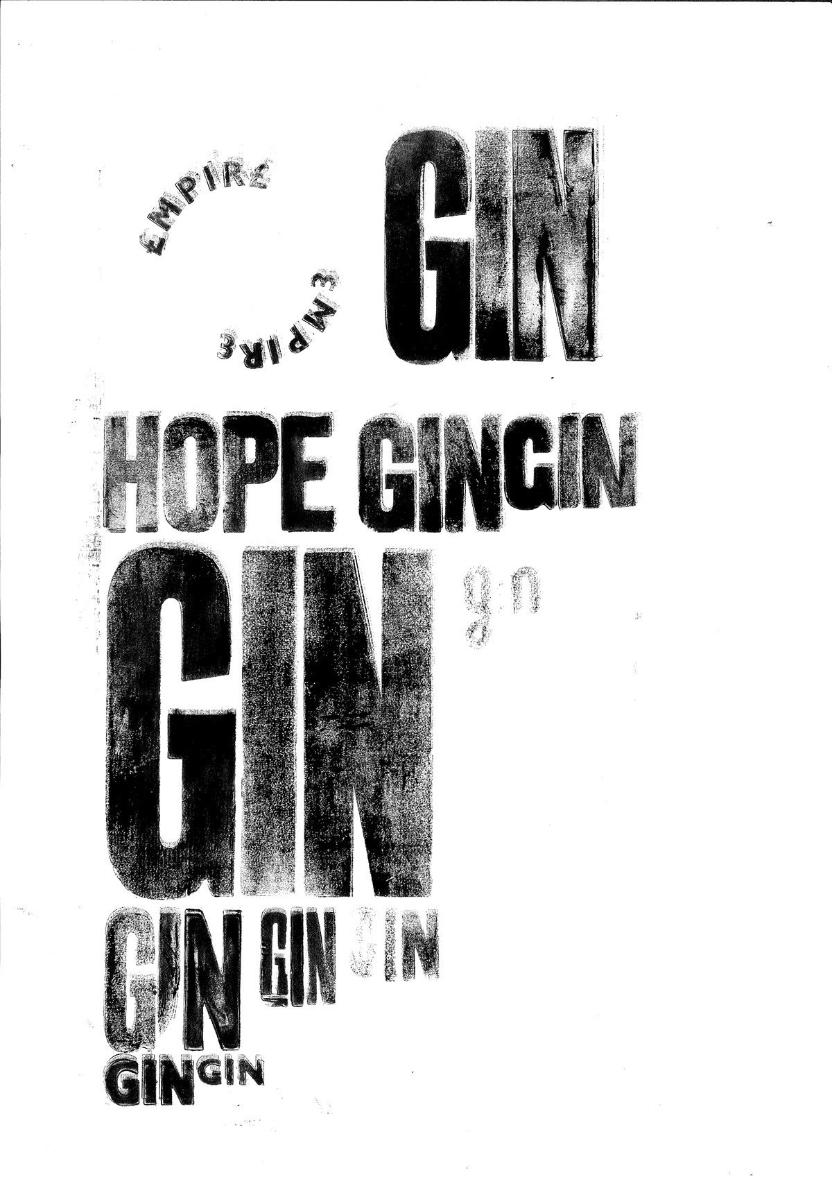 Empire Craft Gin Traditional Label Rebranding on Behance