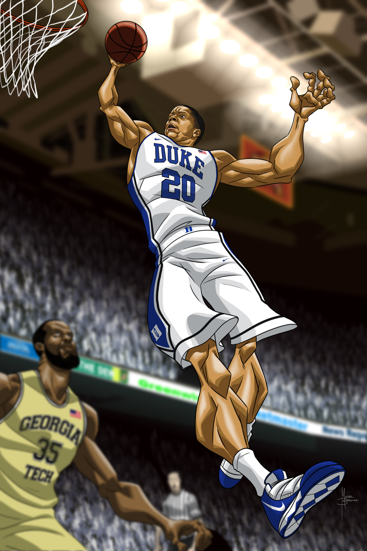 Duke Basketball Art On Behance