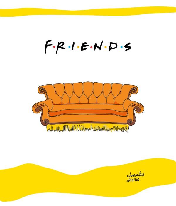 Friends Tv Show Caricatures Behance