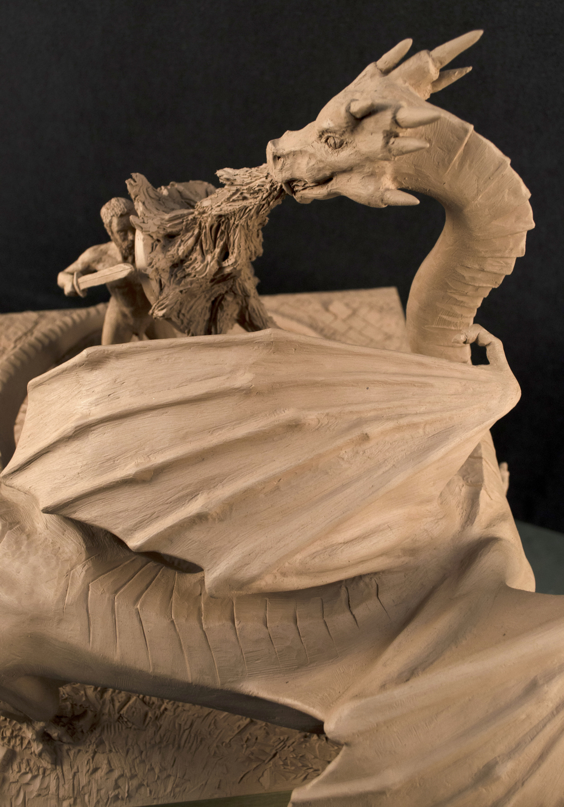 Beowulf Fights The Dragon on Behance