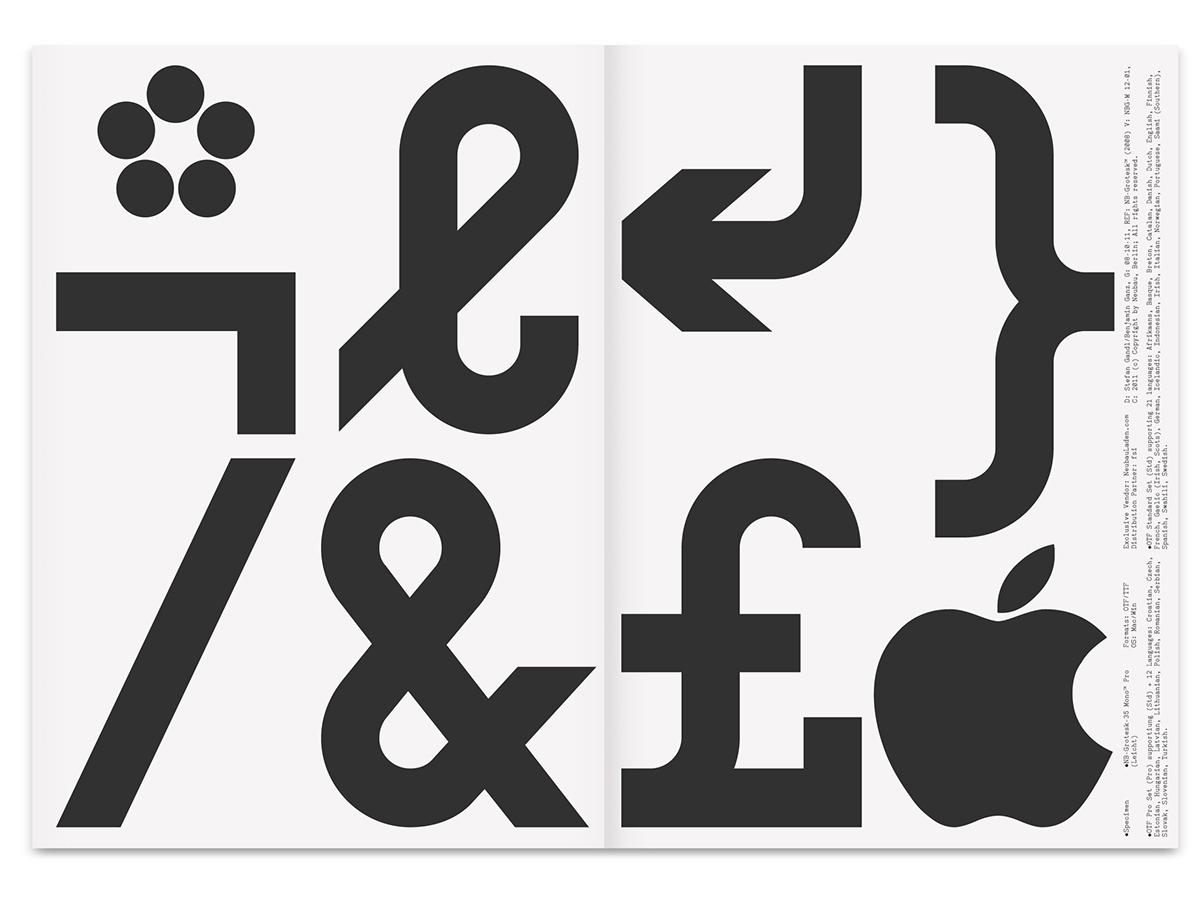 NB Grotesk™ Pro Mono Edition (Typeface) 2010/11 on Behance