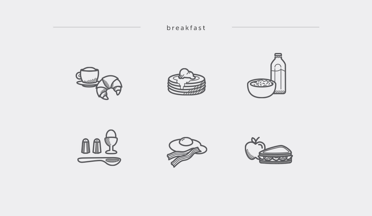 Foody Icons on Behance