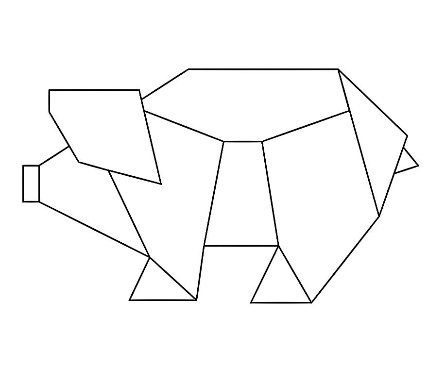 Simple Geometric Animal