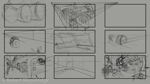 small resolution of this was the second pass of thumbnails i completed the first pass was off base i wasn t aware we had a specific prompt to follow for this final project