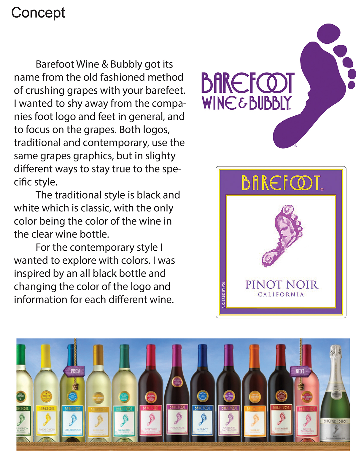 Barefoot Wine Label : barefoot, label, Label, Design-Barefoot, Behance