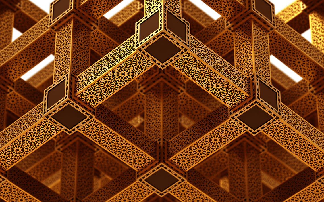perspective islamic pattern background