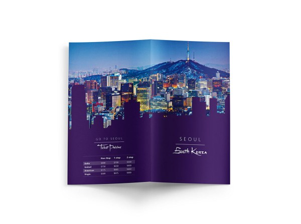 Travel Brochure Seoul South Korea Behance