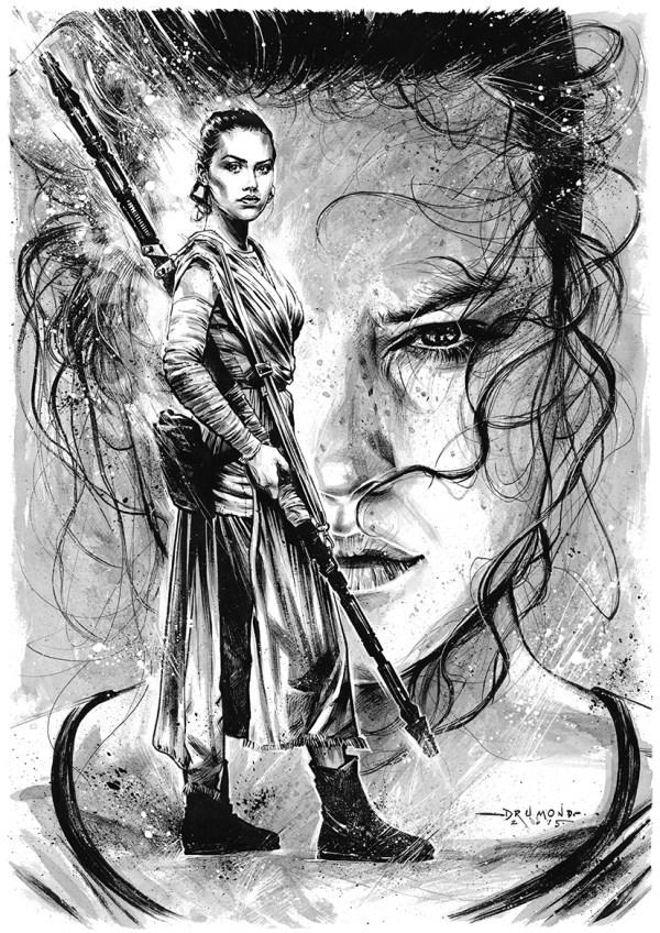 Kylo and Rey Star Wars Fan Art