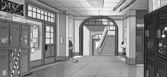 90s High School Animation Backgrounds on Behance