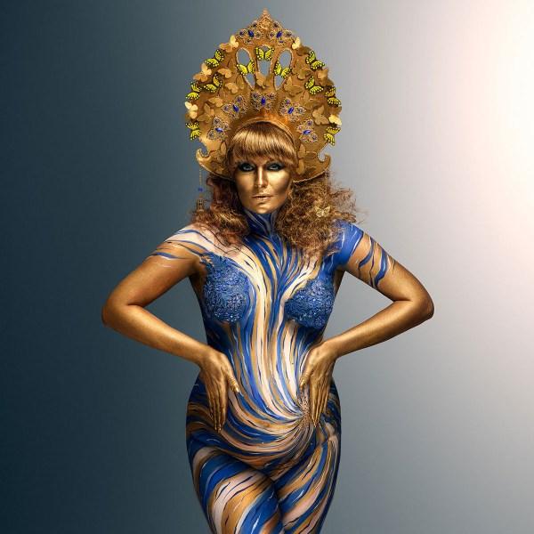 Fashionable Body Art Pregnant Woman Behance