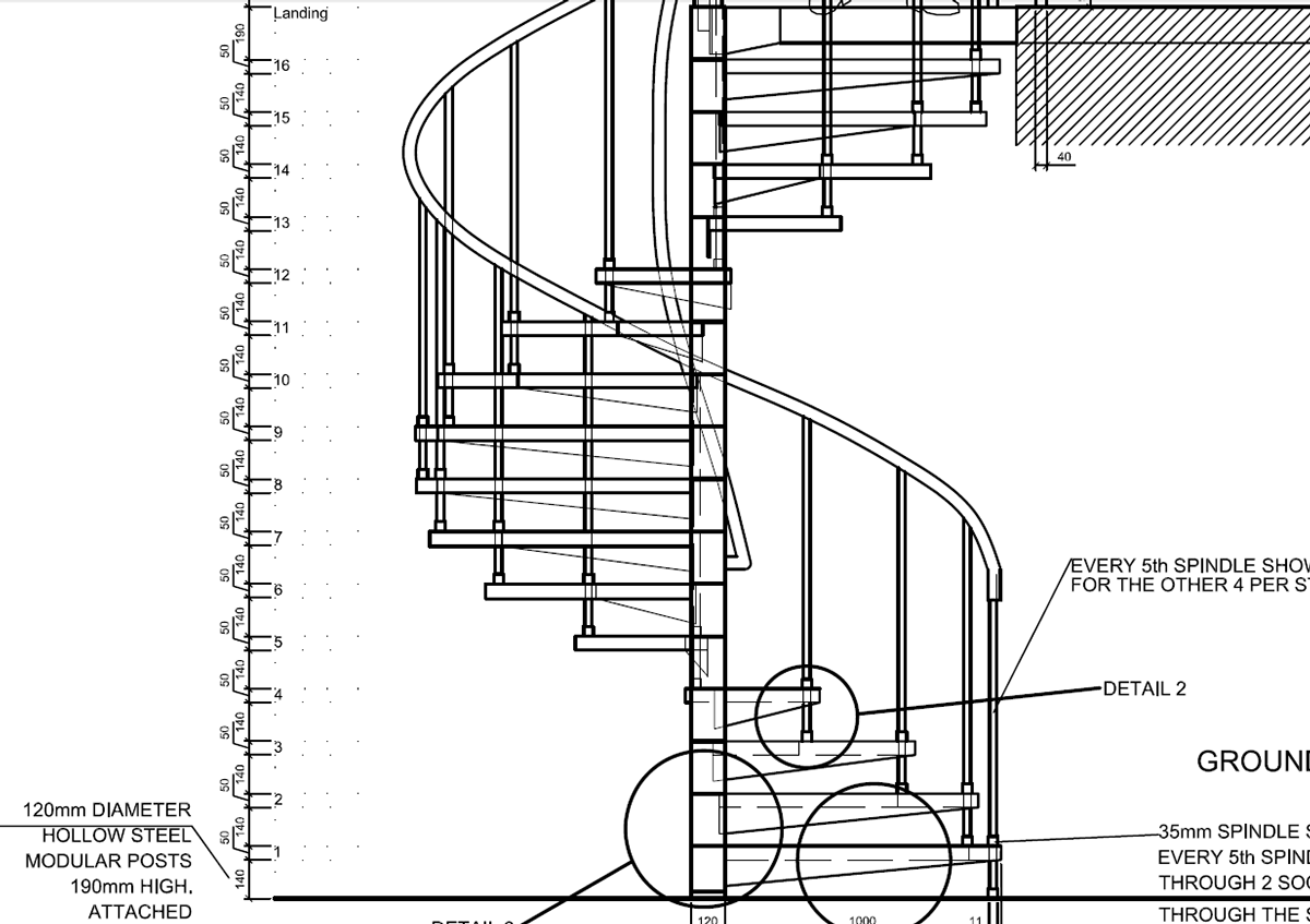 hight resolution of diagram of stair part