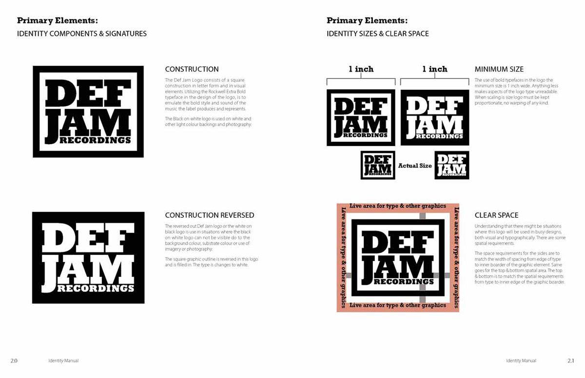 Def Jam Recordings Brand Manual on Behance