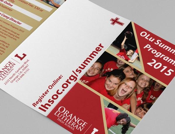 Orange Lutheran High School Summer Program Brochures