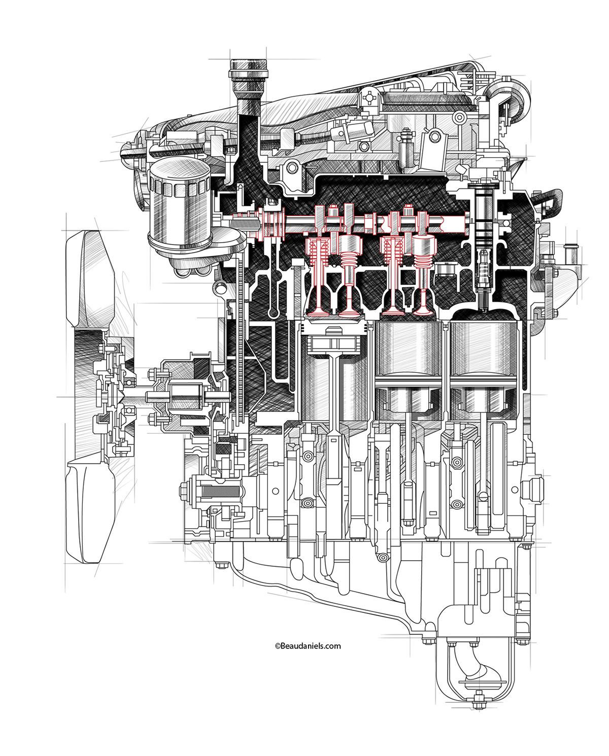Cutaway Automotive Engines On Behance