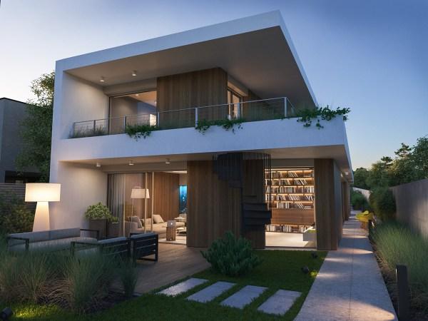 Modern Villa Exterior Behance