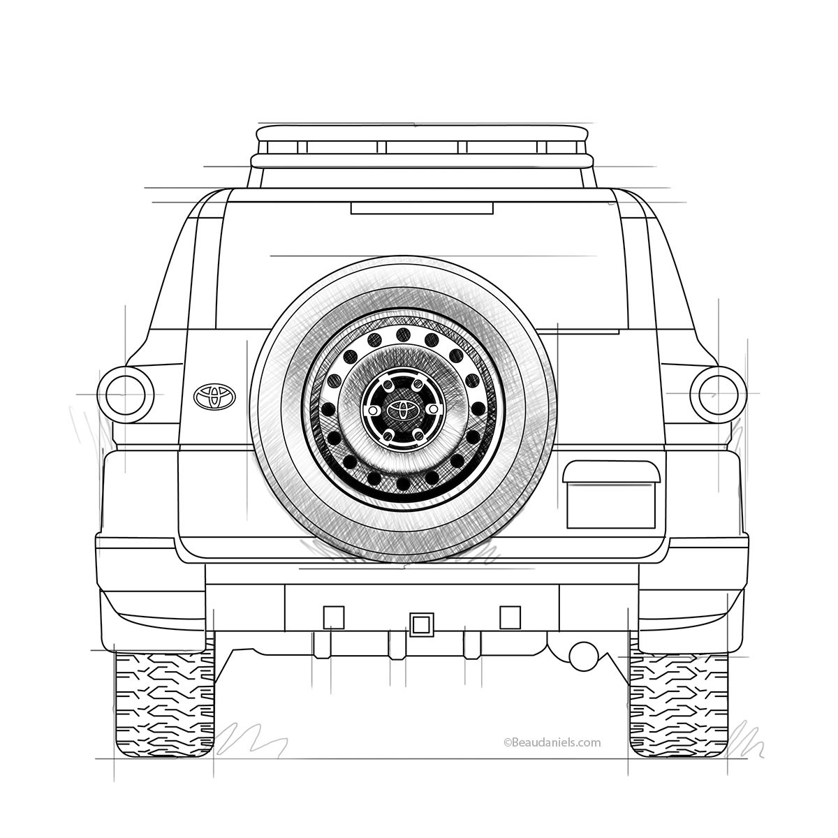Toyota FJ Cruiser project. on Behance