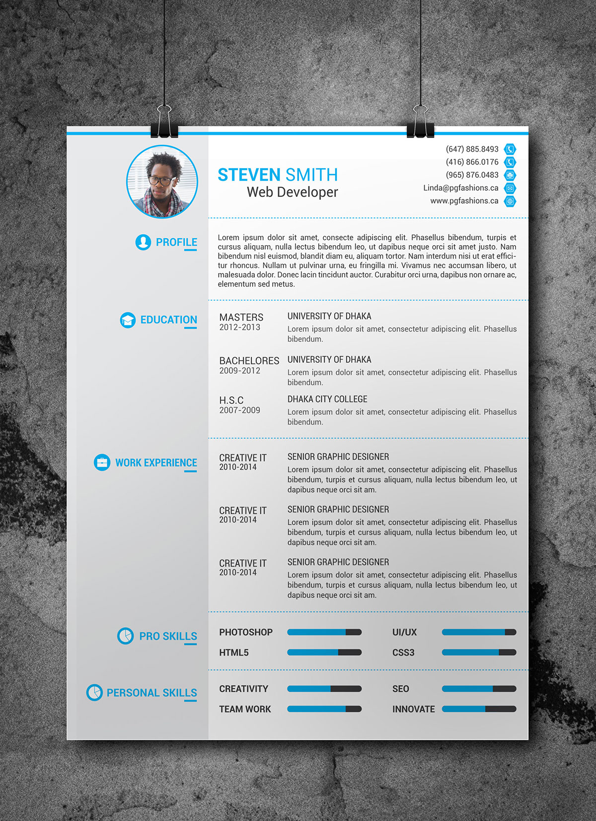Resume Download Template Free Resume Cover Latter Portfolio Template Free Download On Behance