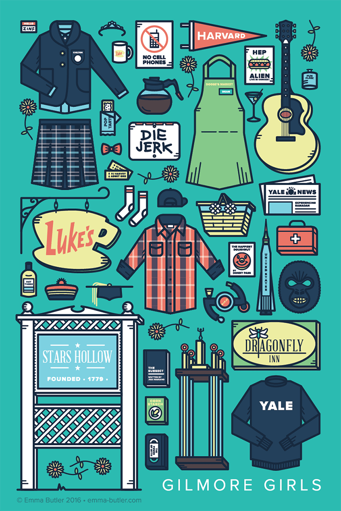 Desktop Wallpaper Minimalist Gilmore Girls Gilmore Girls Tv Parts Poster On Behance