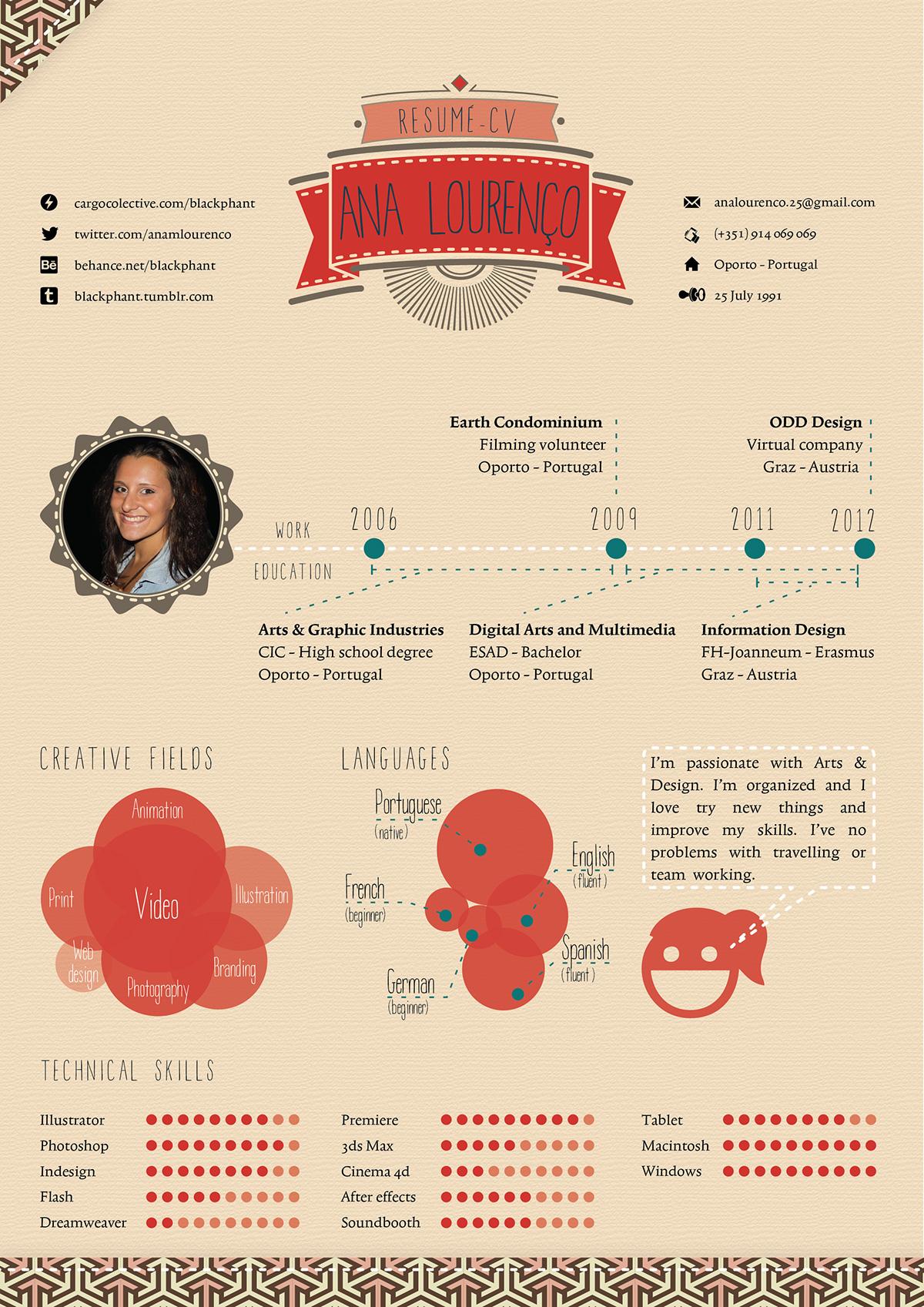 infographic resume template illustrator