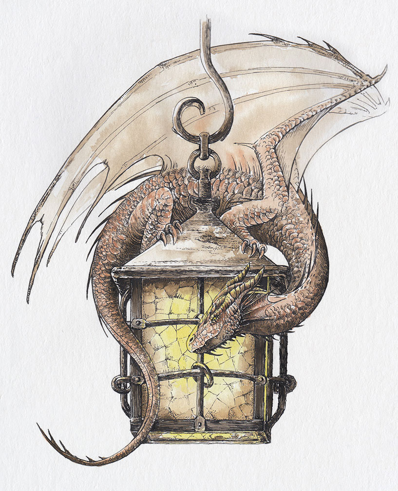Dragon And Old Lantern On Behance