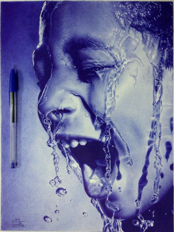 Ballpoint Pen Art Drawing