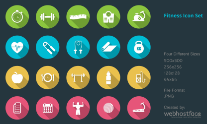 Health and Fitness Icon Set on Behance