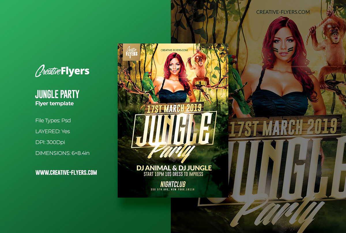 Jungle Party | Flyer Psd Template