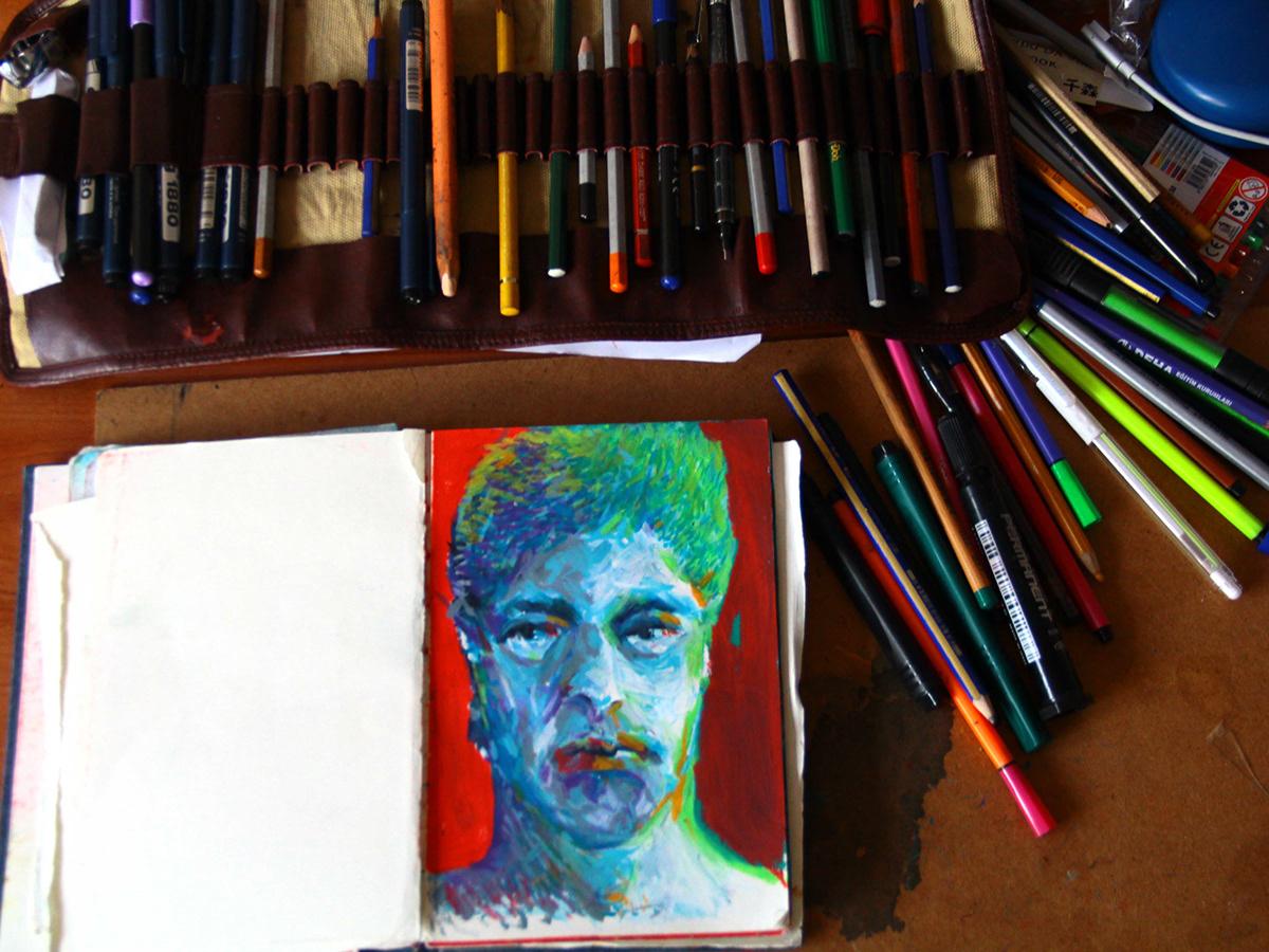 oil pastel / sketchbook on Behance
