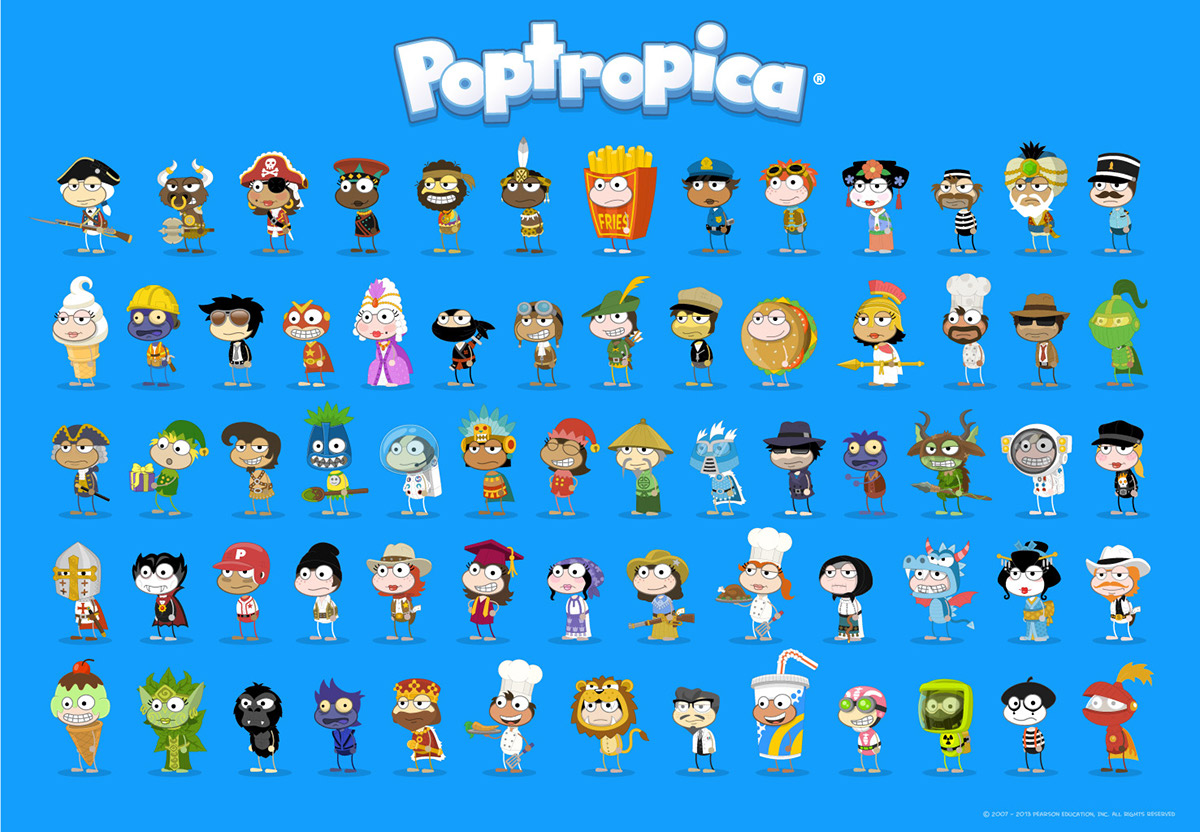 Poptropica Character Design Amp Animation On Behance