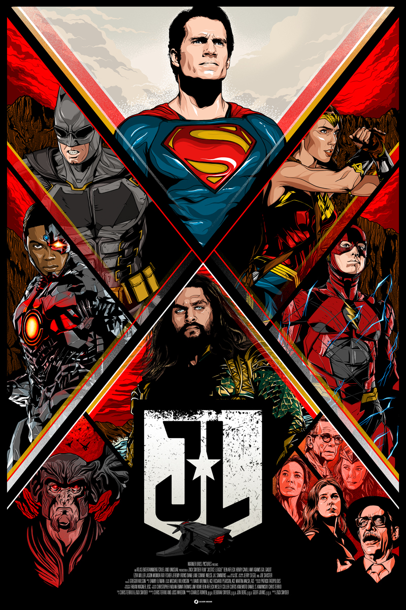 justice league poster on behance