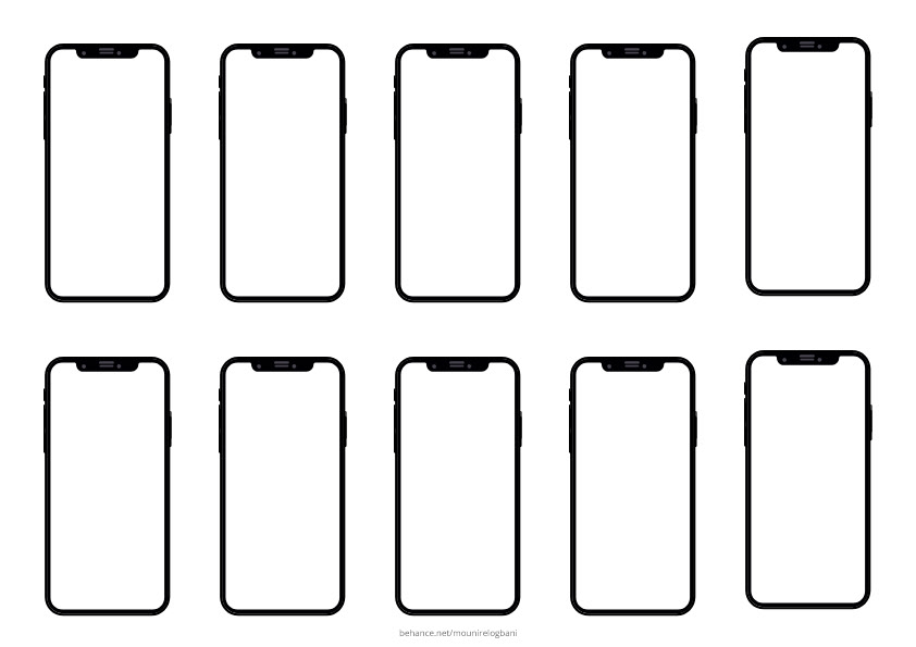Free iphone x mockup templates Bundle in .xd & pdf on Behance