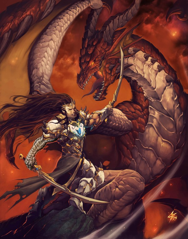 Book with Dragons and Elf deviantART