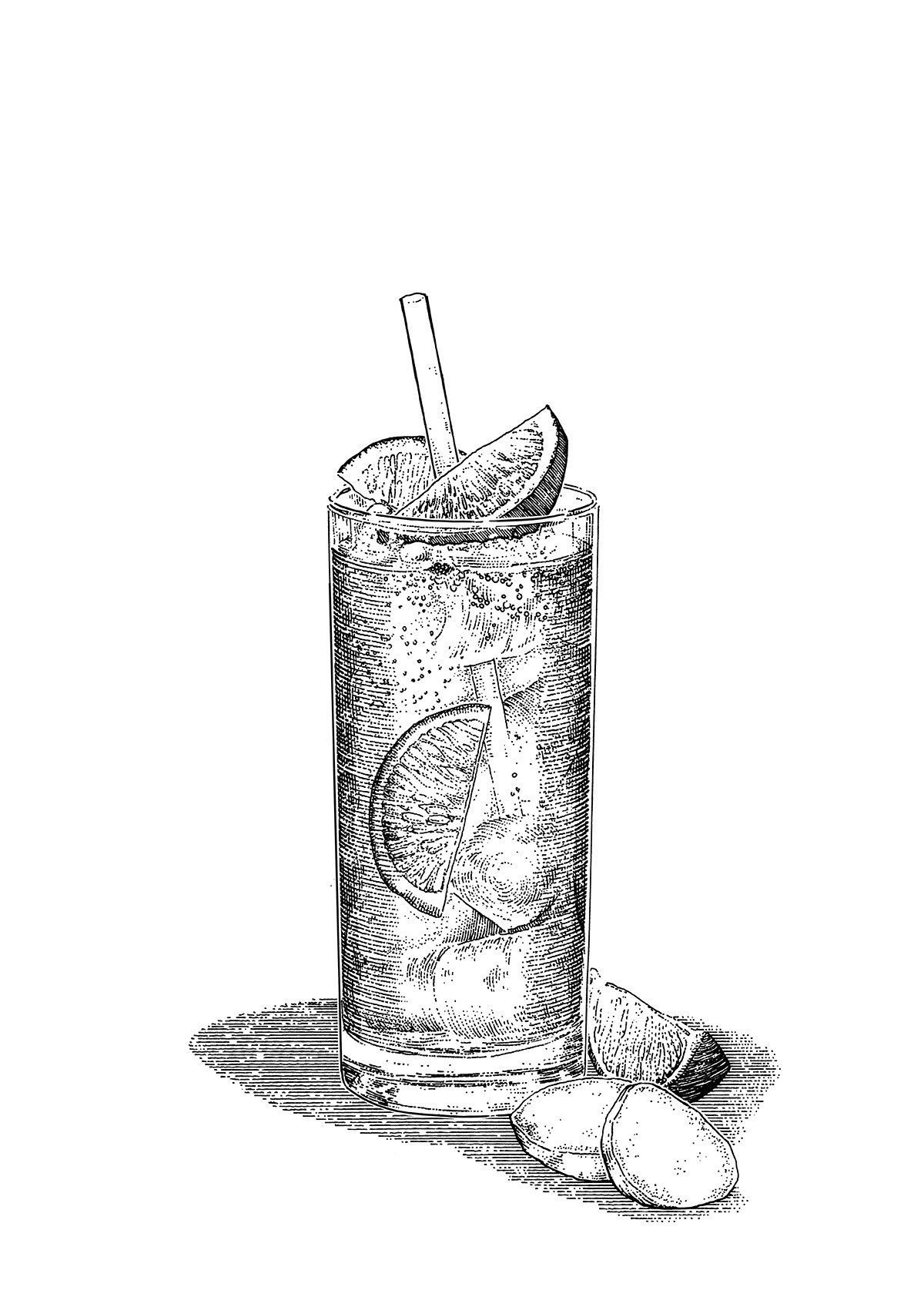 Classic Cocktail Illustrations On Behance