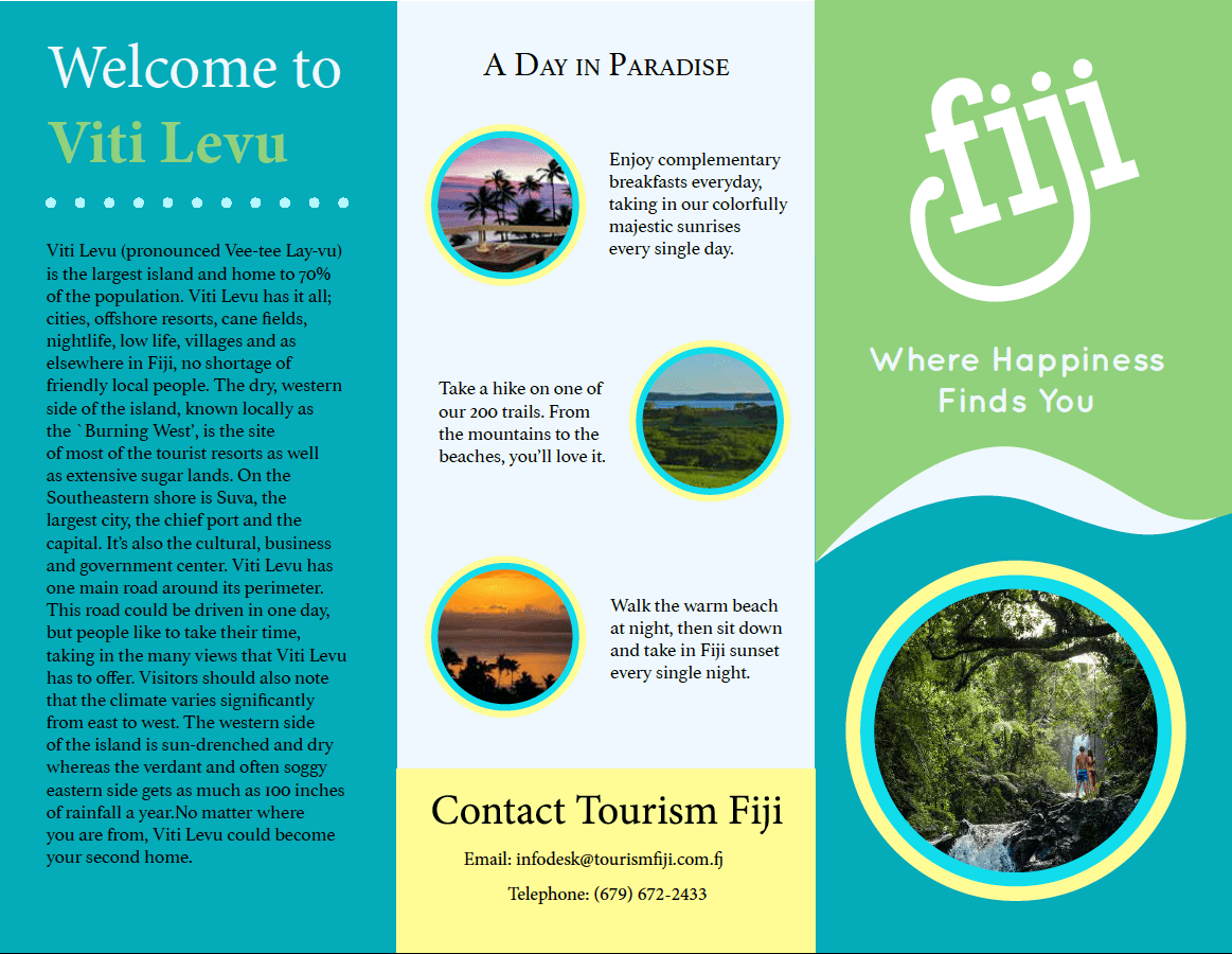 Mock Up Fiji Travel Brochure On Behance