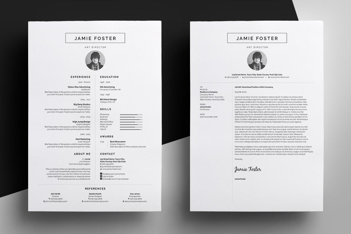 Resume CV 'Jamie' On Behance