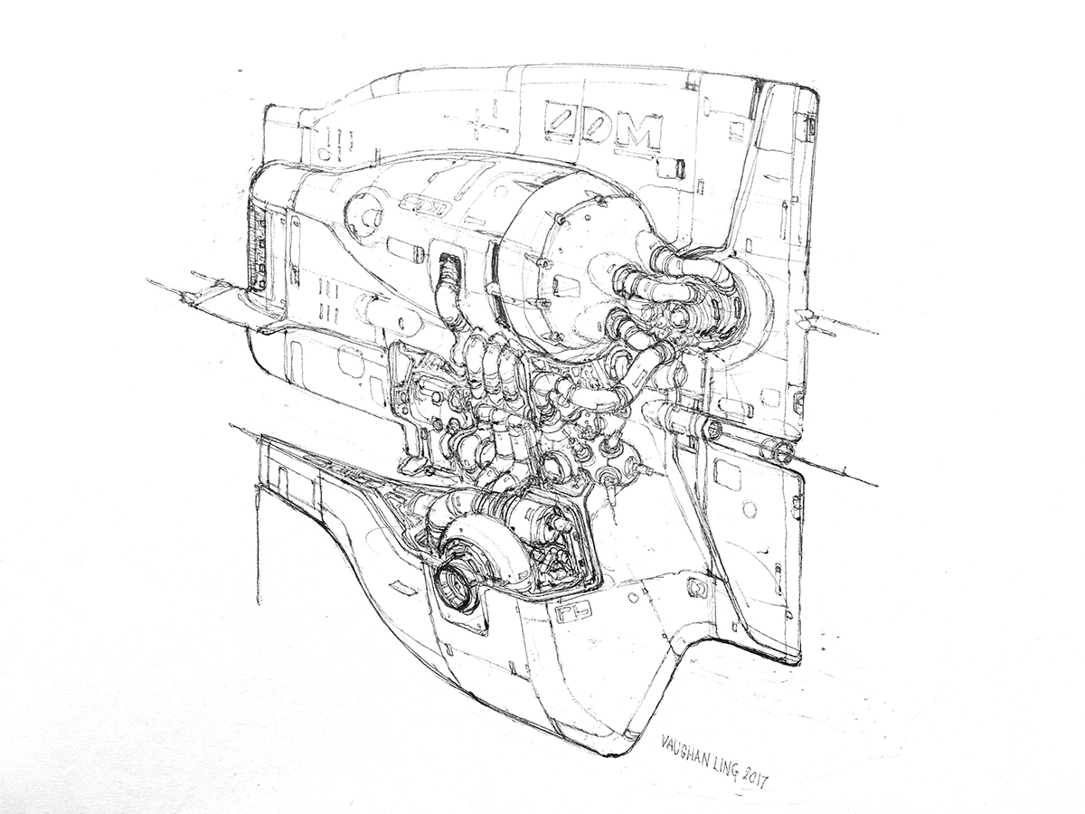 Dragster Engine Drawing • Wiring And Engine Diagram