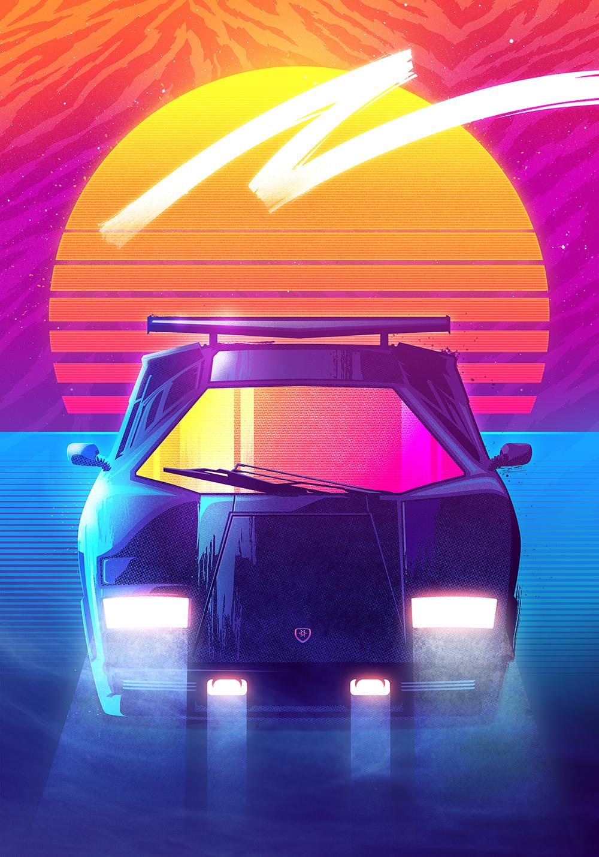 Hotline Miami Car Wallpaper Outrun Series On Behance