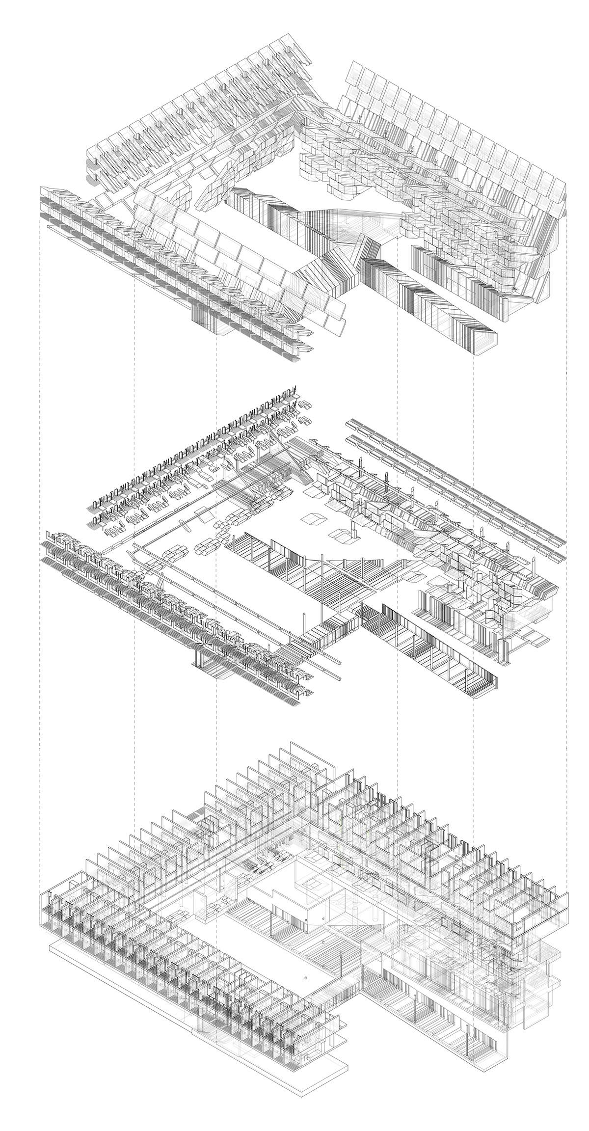 La Tourette Architectural Projections On Risd Portfolios