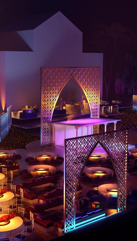 Egyptian Wedding / Geneva - 3D Visualisation on Behance