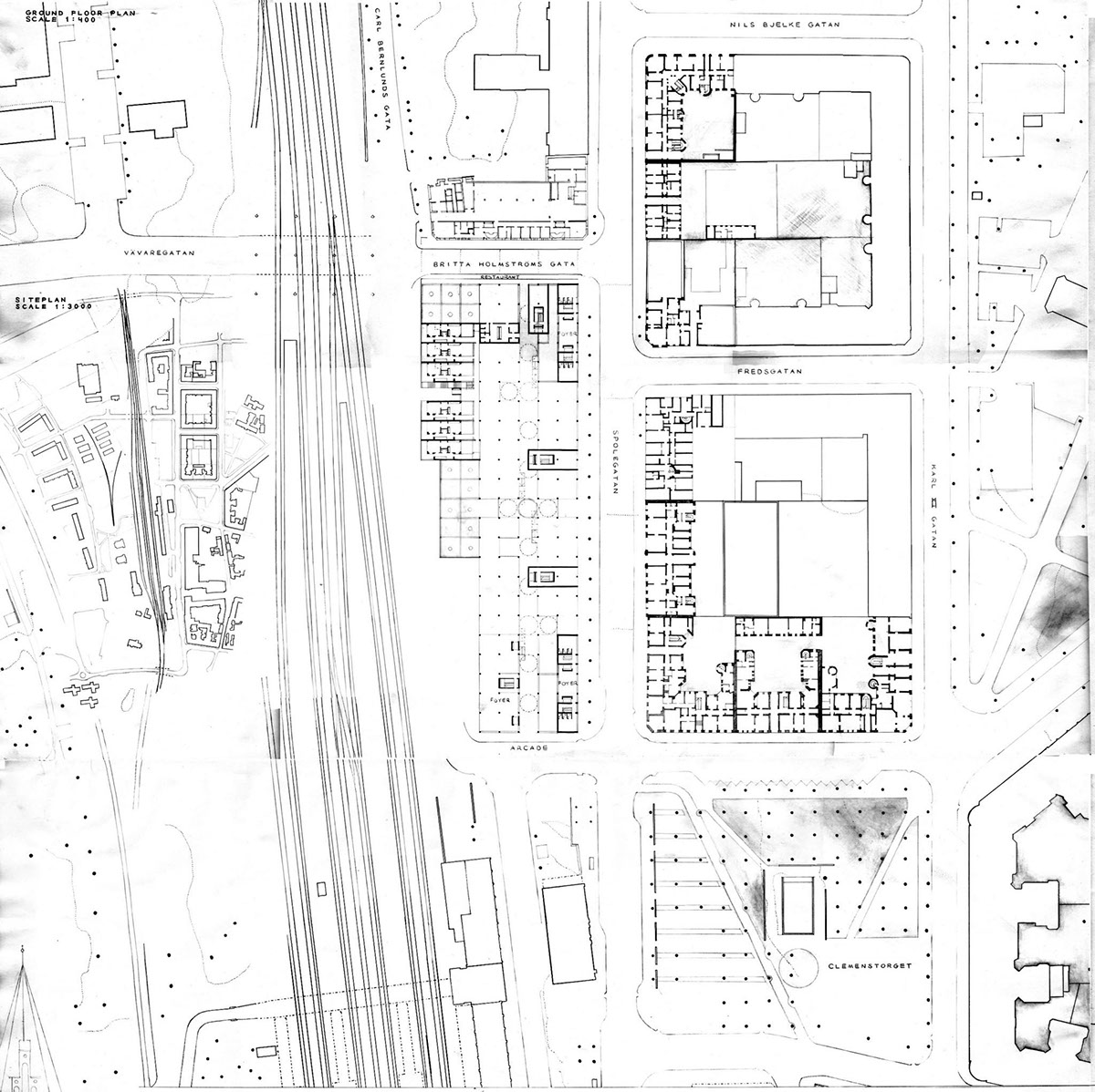 Architectural sketches & projects during study years on