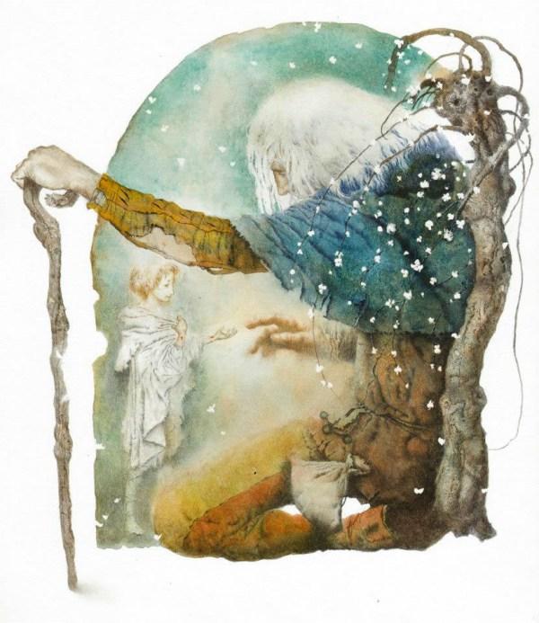 "Illustrations ""selfish Giant"" Oscar Wilde Behance"
