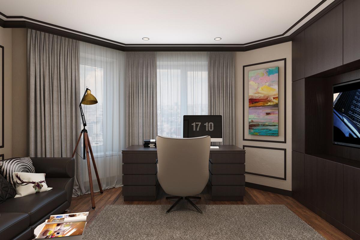 Modern Classic Interior Design/ Home Office Designs On Behance